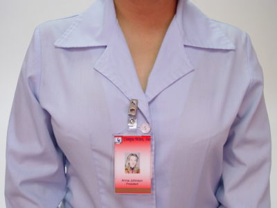 Plastic Badge Clips In Use