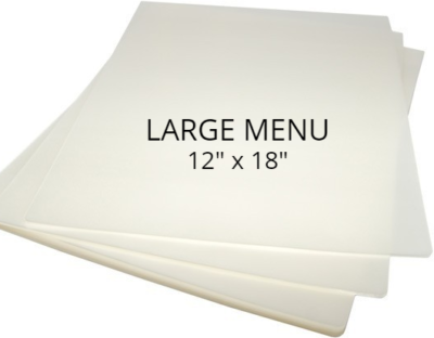 Large Menu Size Laminating Pouches