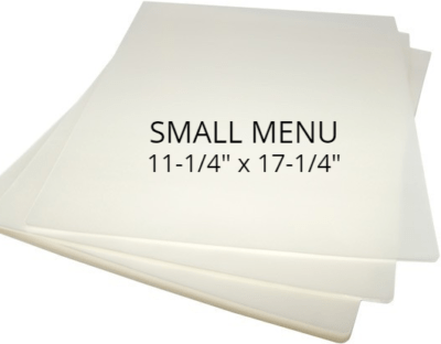 Small Menu Size Laminating Pouches